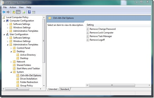 local group policy editor system