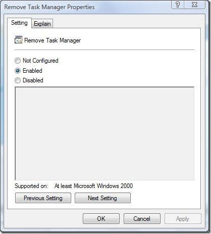 remove task manager properties