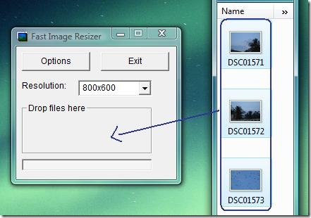 drag images to fast image resizer