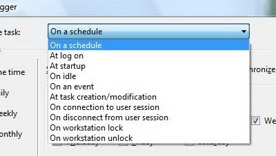 on a schedule
