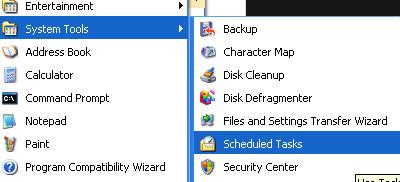 scheduled task