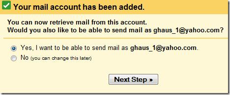 send as yahoo in gmail