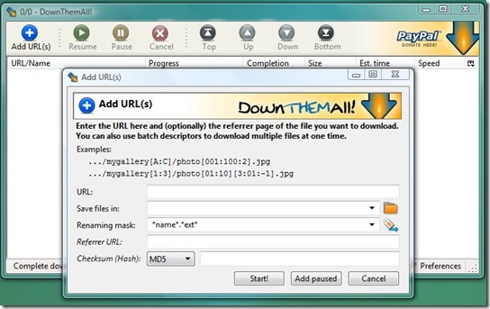 add url to download