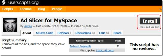 ad slicier for myspace
