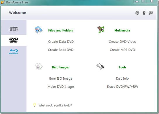 burnaware dvd menu