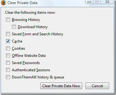 clear private data