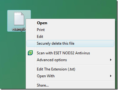 securely delete a file