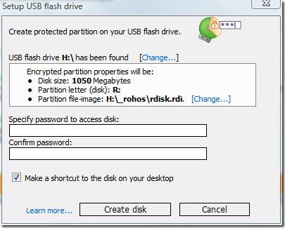 setup usb flash drive