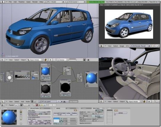 3d car modeling and shading with blender