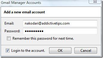 adding gmail account
