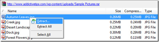 extract a file