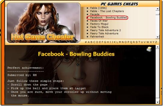facebook bowling buddies cheats