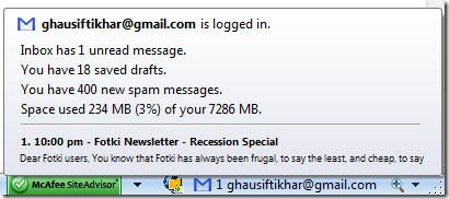 gmail logged in firefox addon