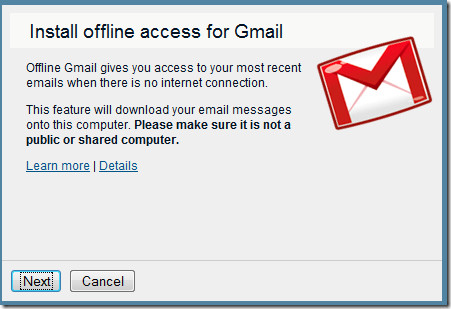 install offline for gmail