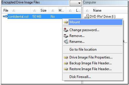mount an image file