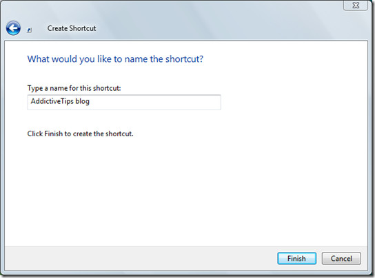 name for shortcut