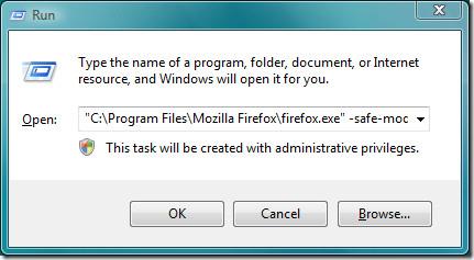 run command firefox