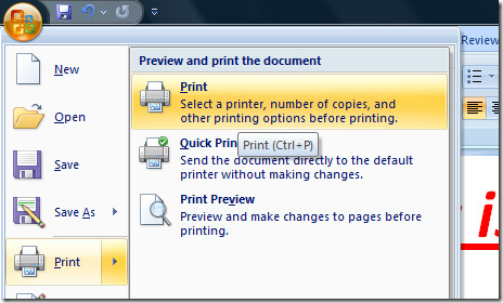 test document print