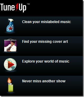 TuneUp homepage