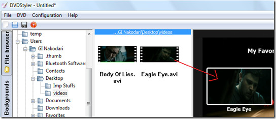 addding video in dvdstyler