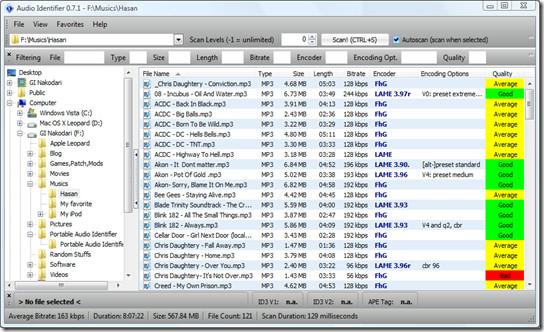 audio idenntifier - music details