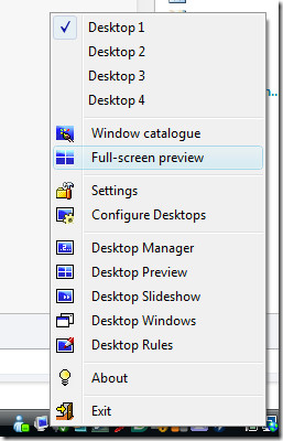 dextop  full screen preview options