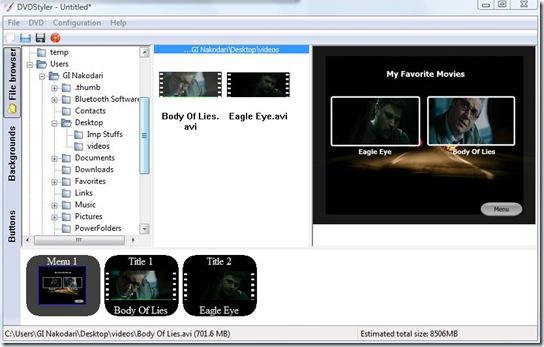dvdstyler customized dvd