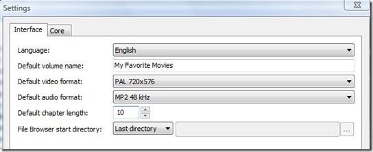 dvdstyler settings