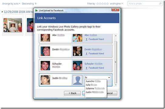 LiveUpload to Facebook - LinkAccounts