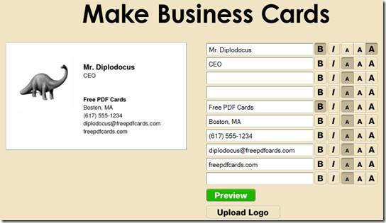 make free business card