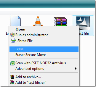 permanently remove file