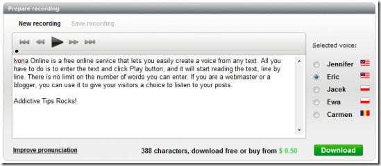 prepare text to voice recording 2