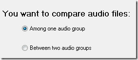 select audio from one music group