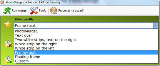 select text on image profile