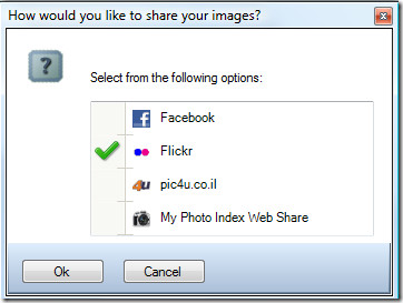 share your photos on facebook and flickr