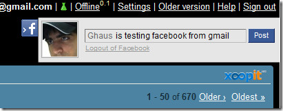 testing facebook connect from gmail
