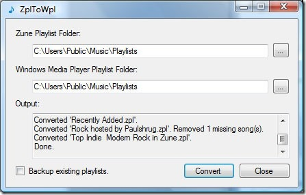 How To Convert Zune Playlist(.zpl) To Windows Media Player Playlist(.wpl)