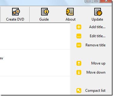 Add DVD video title