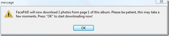 being downloadin facebook photos