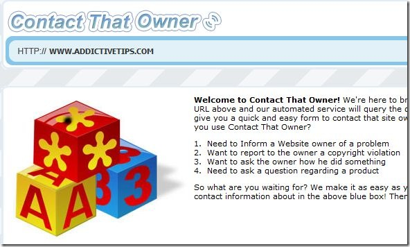 contacting webmaster