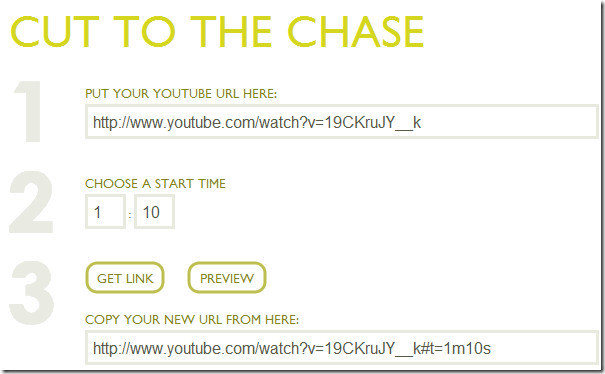 deep linking the youtube video
