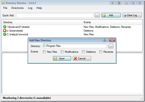 Directory Monitor adding folder