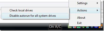 Disable autorun for all drives
