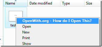 openwith context menu
