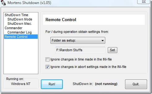 remote control shutdown