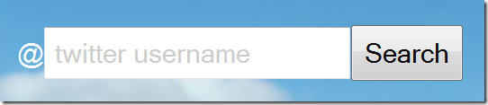 twitter username
