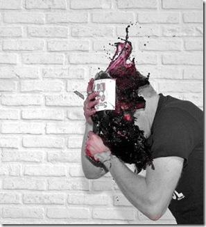 wine on head red