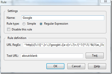 changing google search box sync rule