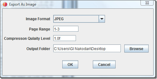Converting pdf document to image with free pdf reader