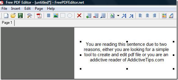 creating pdf document